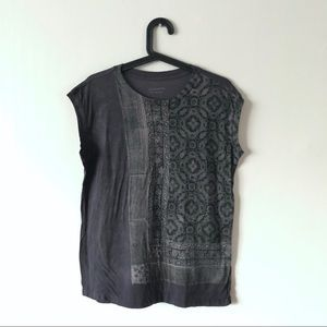 All Saints printed cotton ss S